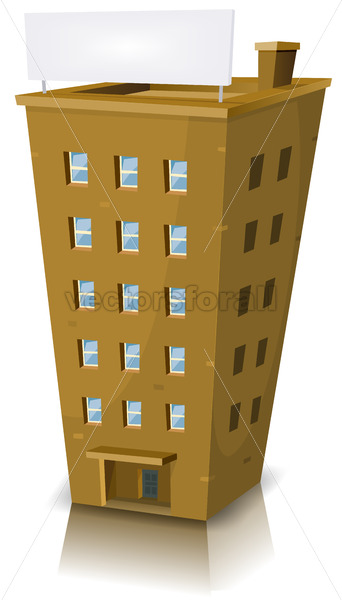 Cartoon Residential Building - Vectorsforall