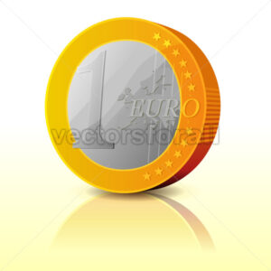 Cartoon Simple Euro Coin - Benchart's Shop