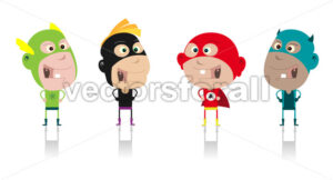 Cartoon Super Heroes Kids Crew - Benchart's Shop