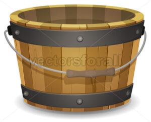 Cartoon Wood Bucket - Vectorsforall