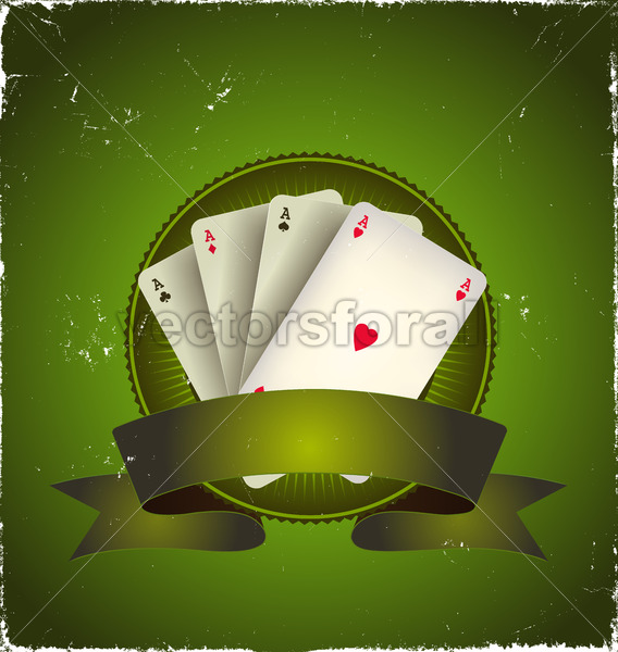 Casino Poker Aces Banner - Benchart's Shop