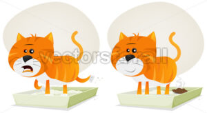 Cat Litter, Before And After - Vectorsforall