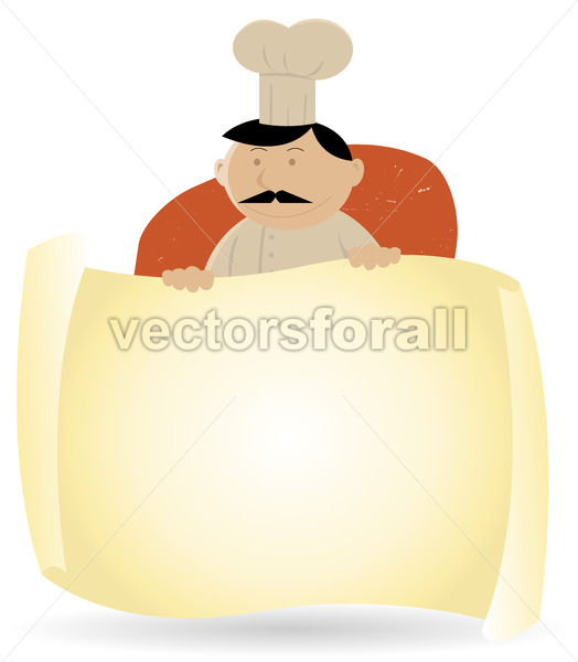 Chef Cook Banner Menu Background - Vectorsforall