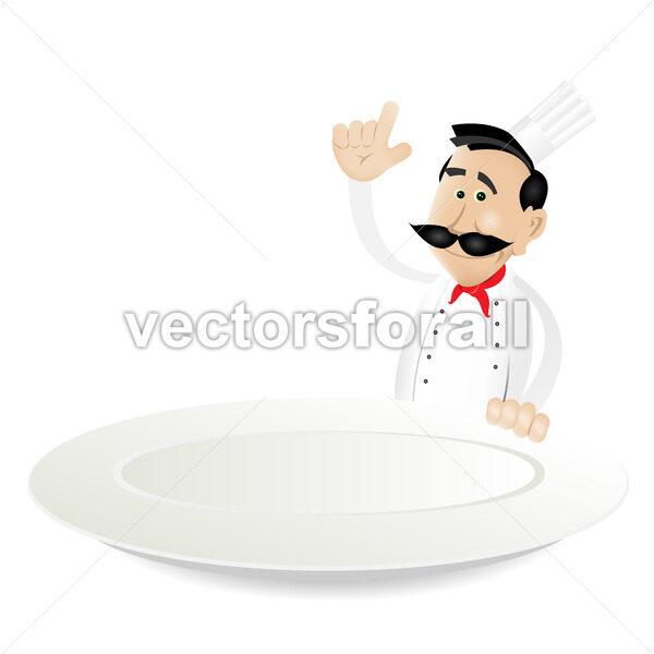 Chef Menu Holding Dish - Vectorsforall