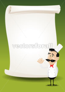 Chef Restaurant Poster Menu Background - Benchart's Shop
