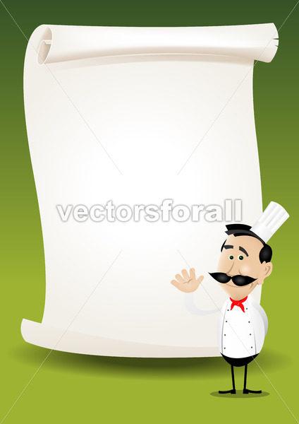 Chef Restaurant Poster Menu Background - Benchart's Shop