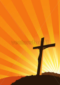 Christian Cross silhouette - Benchart's Shop