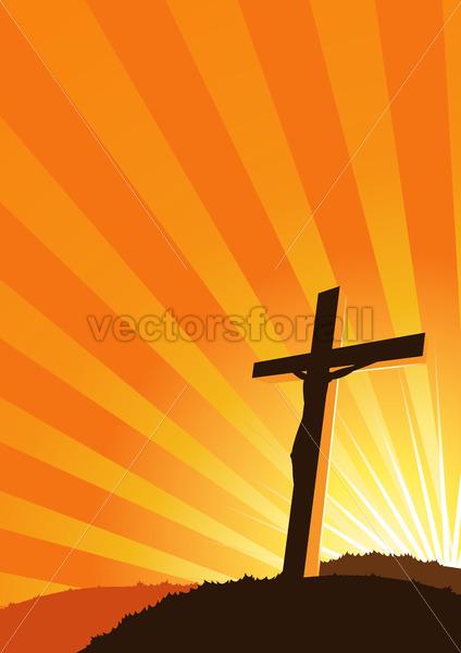 Christian Cross silhouette - Vectorsforall