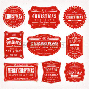 Christmas Frames, Banners And Badges - Vectorsforall