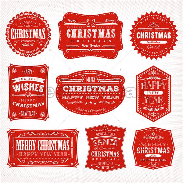 Christmas Frames, Banners And Badges - Vectorsforall