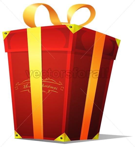Christmas Gift Box - Vectorsforall