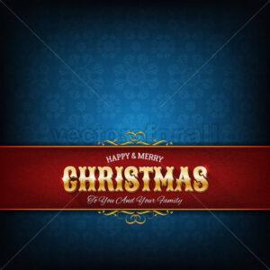 Christmas Greeting Card - Vectorsforall
