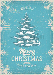 Christmas Greeting Card With Grunge Texture - Vectorsforall