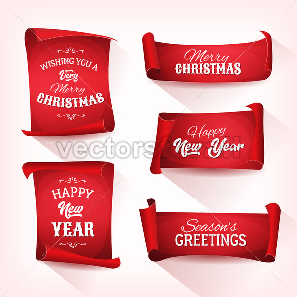 Christmas Parchment Scroll Set - Vectorsforall