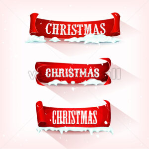 Christmas Parchment Scroll With Snow - Vectorsforall