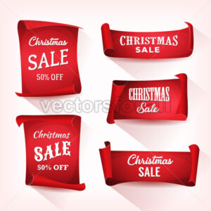 Christmas Sale On Parchment Scroll Set - Vectorsforall
