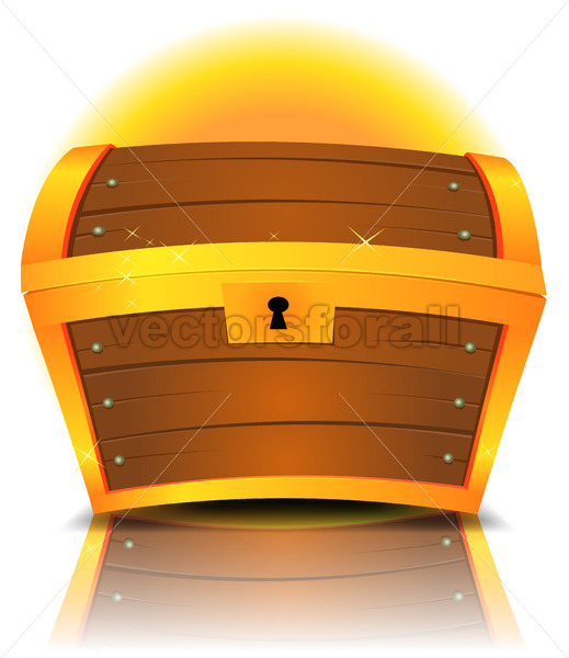 Closed Cartoon Treasure Chest - Vectorsforall