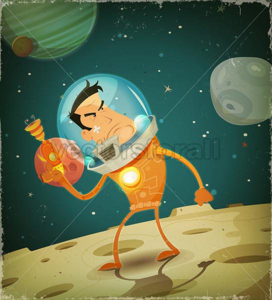 Comic Astronaut Hero - Vectorsforall