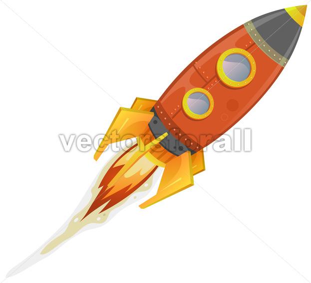 Comic Rocket Ship - Vectorsforall