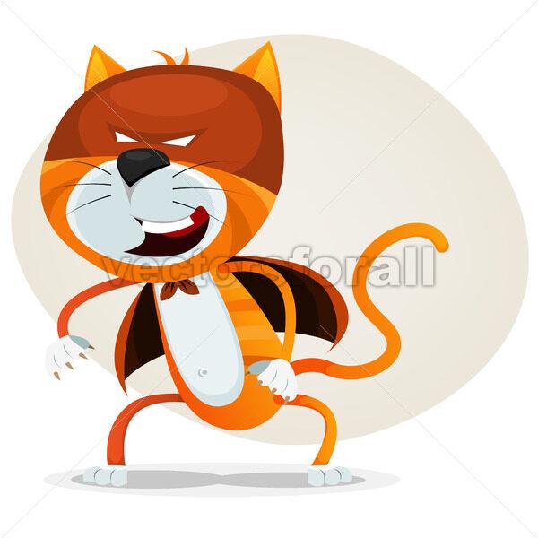 Comic Super Cat - Vectorsforall