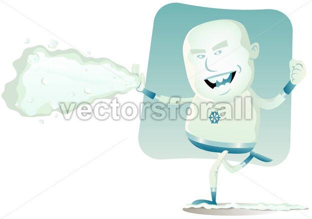 Comic Superhero – Iceman - Benchart's Shop