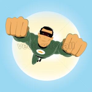 Comic-like Green Super-Hero - Benchart's Shop