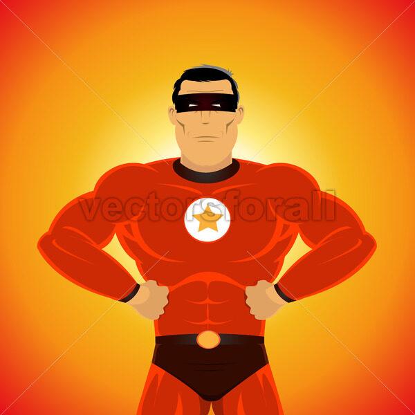 Comic-like Super-Hero - Vectorsforall