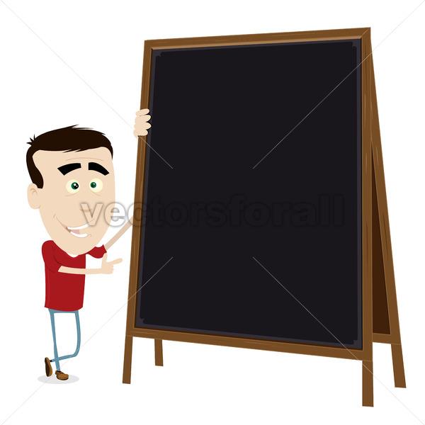 Cool Cartoon Young Teacher - Vectorsforall