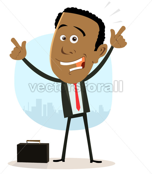Cool Happy African Businessman - Benchart's Shop