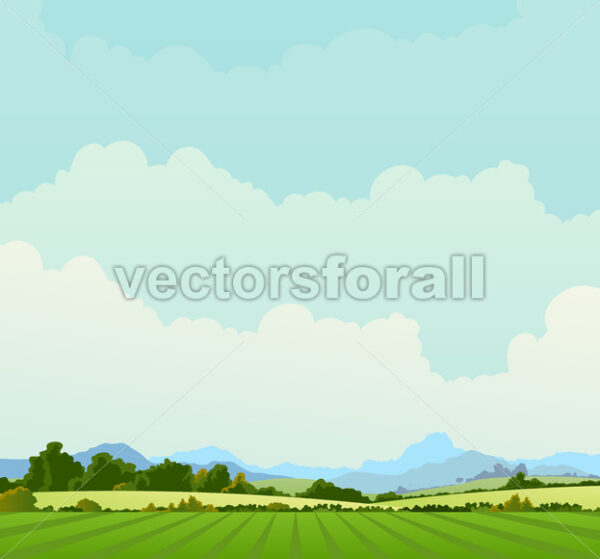 Country Landscape Background - Vectorsforall