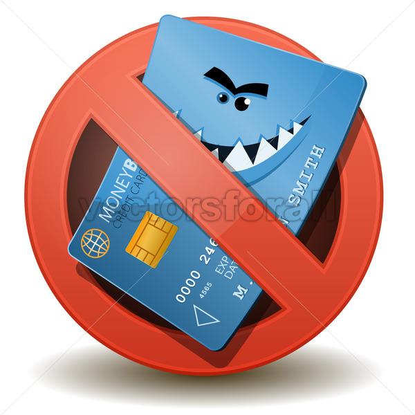 Credit Card Not Allowed - Vectorsforall