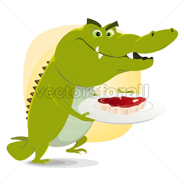 Crocodile Lunch - Vectorsforall