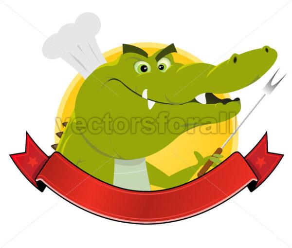 Crocodile Restaurant Banner - Vectorsforall