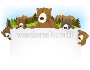 Cute Bear Family Background - Vectorsforall