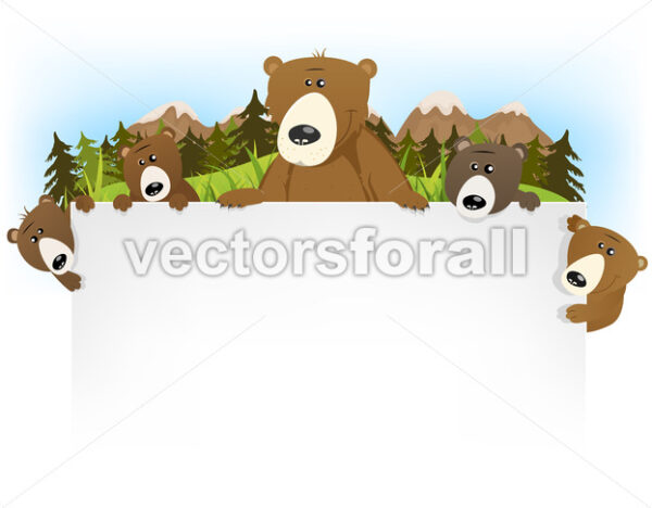 Cute Bear Family Background - Vectorsforall