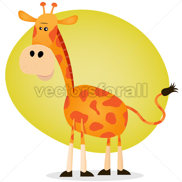 Cute Cartoon Giraffe - Benchart's Shop