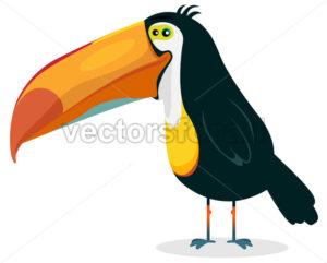 Cute Cartoon Toucan - Vectorsforall
