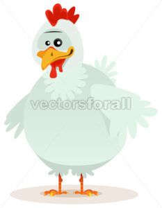 Cute Chicken Character - Vectorsforall