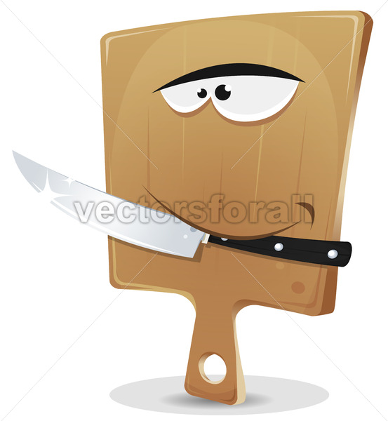 Cutting Board And Knife - Vectorsforall