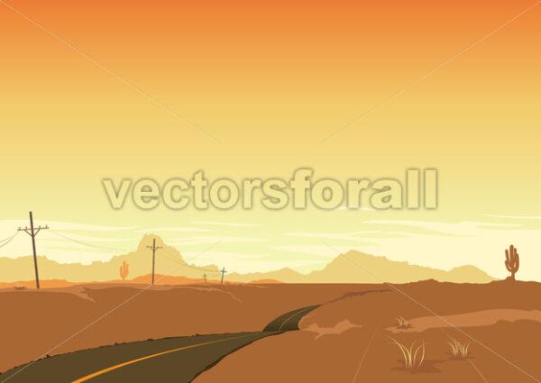 Desert Landscape - Vectorsforall