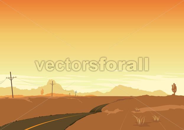 Desert Landscape - Benchart's Shop