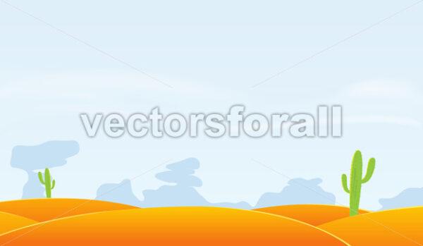 Desert Landscape Background - Vectorsforall