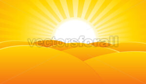 Desert Summer Landscape Poster Background - Benchart's Shop