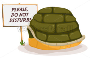 Do Not Disturb Turtle Sleeping - Vectorsforall