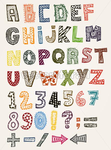 Doodle Fancy ABC Alphabet - Vectorsforall