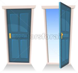 Doors, Closed And Open - Vectorsforall