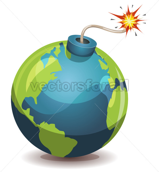 Earth Planet Warning Bomb - Vectorsforall