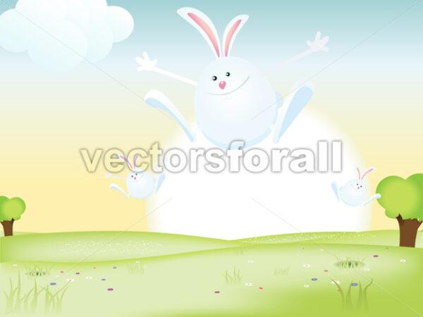 Easter Bunnies - Vectorsforall