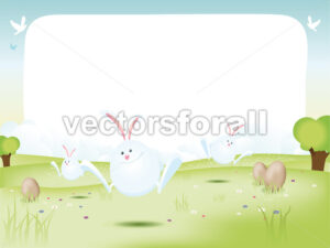Easter Bunnies With Eggs - Benchart's Shop