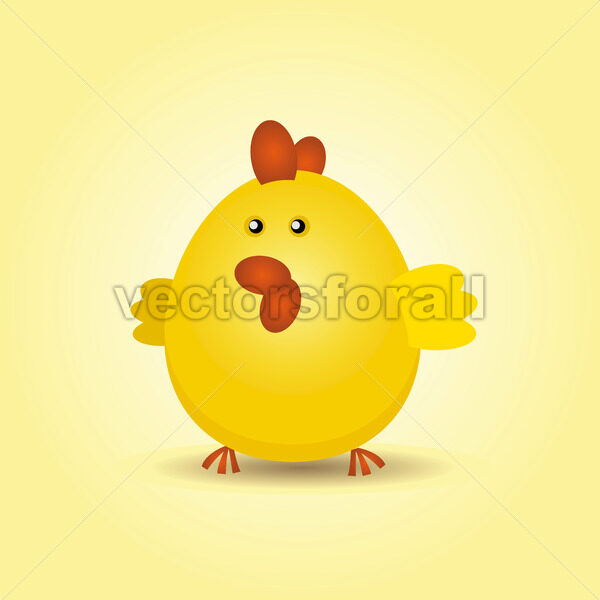 Easter Chicken - Vectorsforall